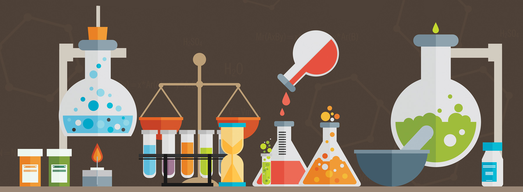 Illustration of chemistry set