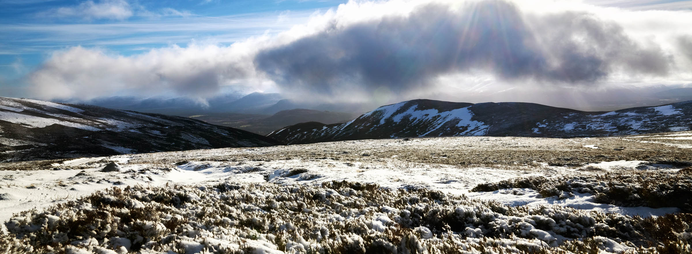 Summit of Geal-charn Mor in the Cairngorms