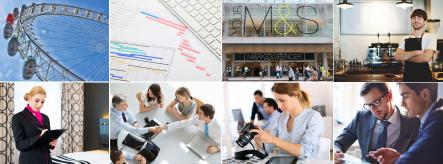 Montage of management-related images