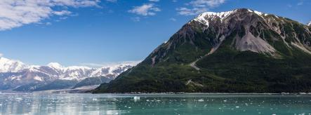 Lake and glacier in Alaska