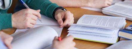 Students studying for exam