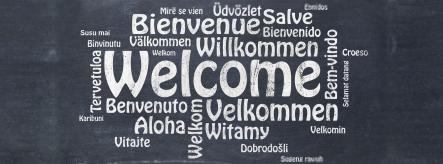 French, German and other languages on blackboard