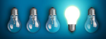 lightbulbs symbolising philosophy