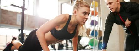 sports careers - personal trainer and client