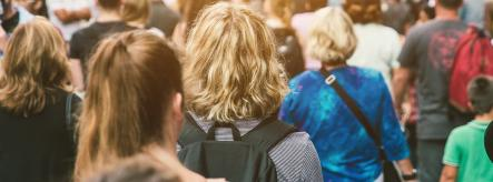 people in a crowd - sociology degrees
