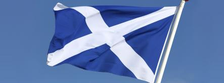 The Scottish flag - apprenticeships in Scotland