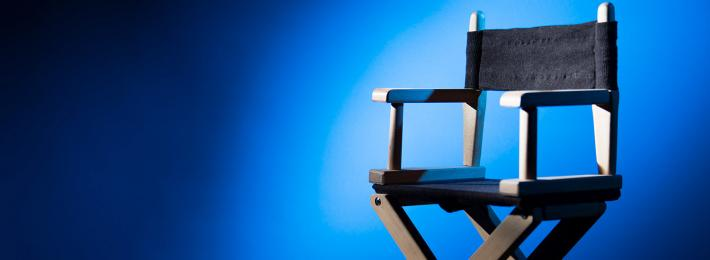 A director's chair