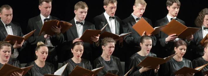 Classical singers at a concert