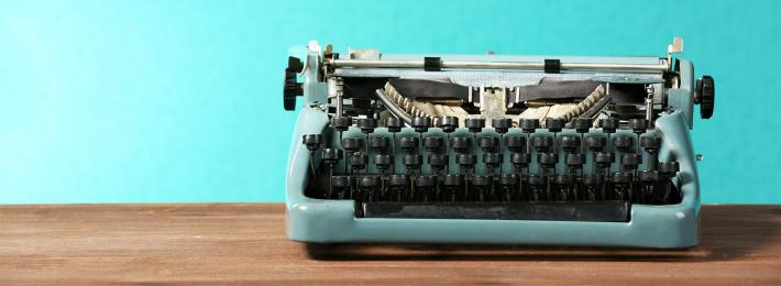 A typewriter - careers in writing