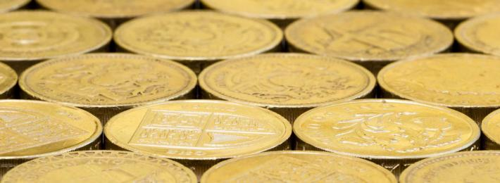 Media salaries - UK pound coins