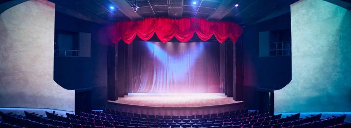A theatre stage and auditorium
