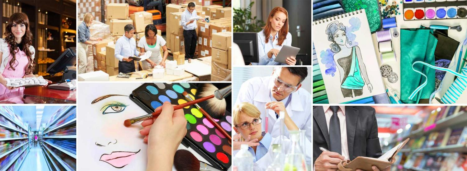 What types of jobs and employers are there in retail?