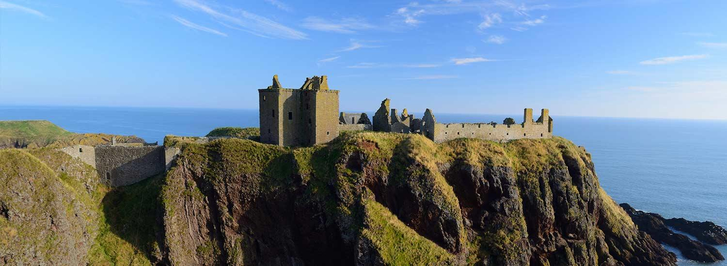 Dunnottar Castle, Stonehaven - going to university in Scotland