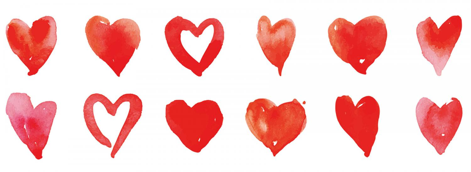 Show your passion in your personal statement: hearts image