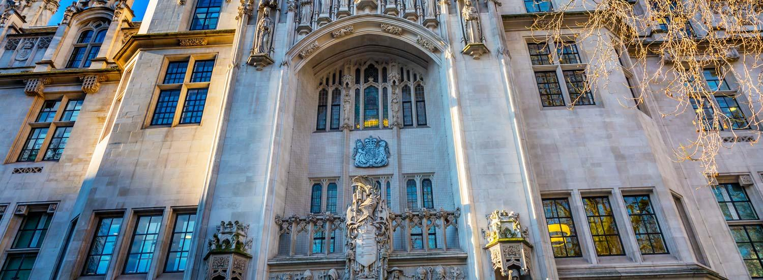 The Supreme Court - the highest legal court in the UK