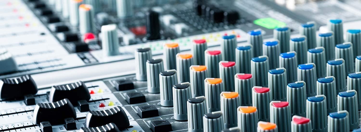 Sound mixing console - careers in film sound