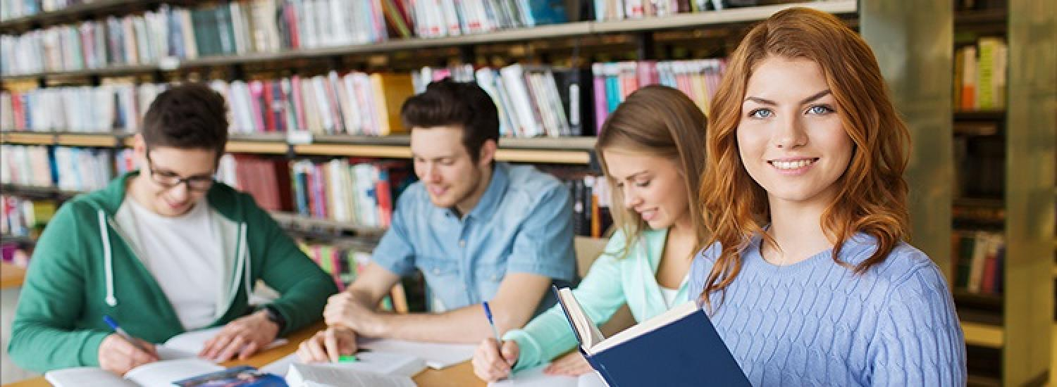 Students studying for university admissions tests