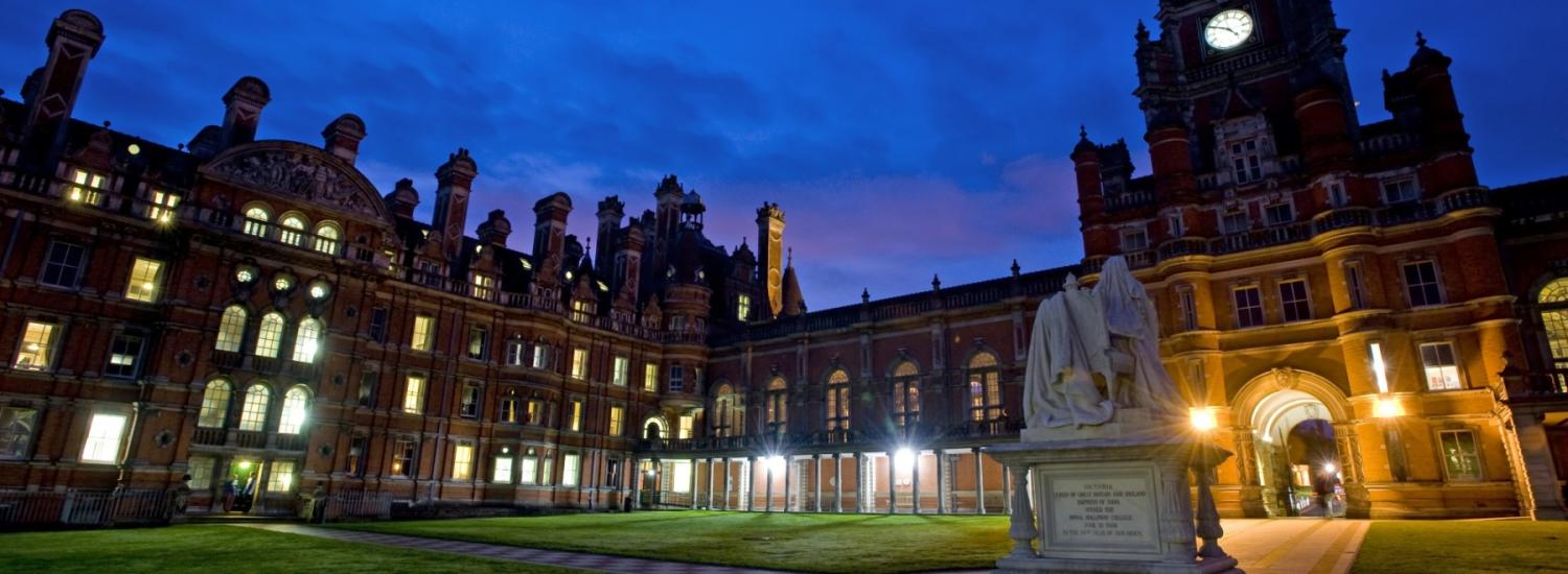 Royal Holloway, University of London header